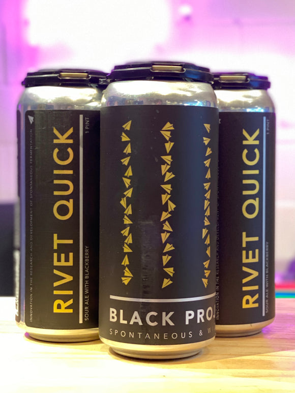 Black Project 'Rivet Quick', Wild Sour Ale with Jammy Blackberry, Denver, CO [16oz Can]