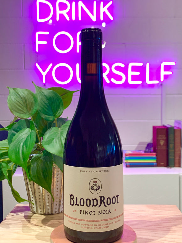 BloodRoot 2018 Pinot Noir, Sonoma County, California, USA