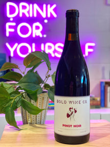 Bold Wine Co. 2018 Pinot Noir, Monterey, CA, USA