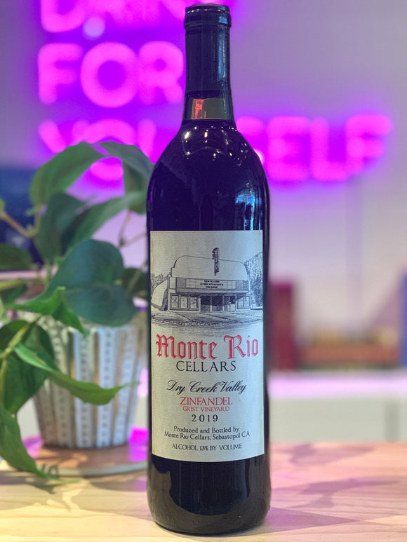 Monte Rio 2019 'Grist Vineyard' Zinfandel, Dry Creek Valley, California, USA