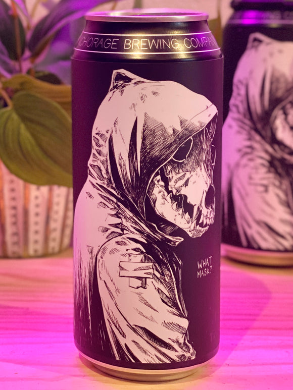 Anchorage Brewing 'What Mask?' Double IPA, Anchorage, AK [16oz Can]
