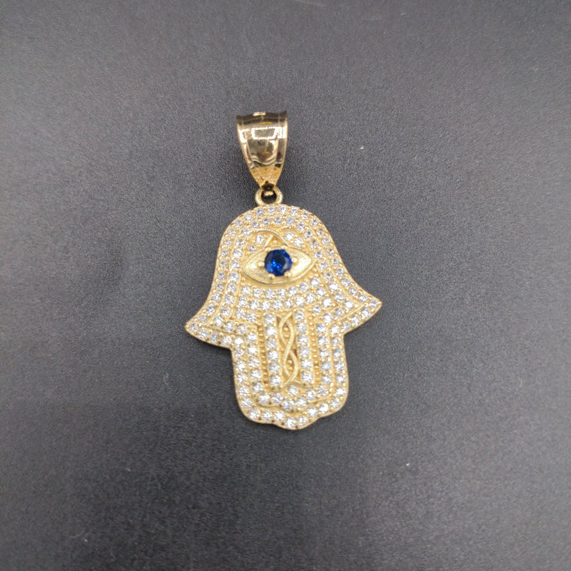 NEW* 14k CZ Hamsa Pendant GD ™ - Gold Drip Jewelry