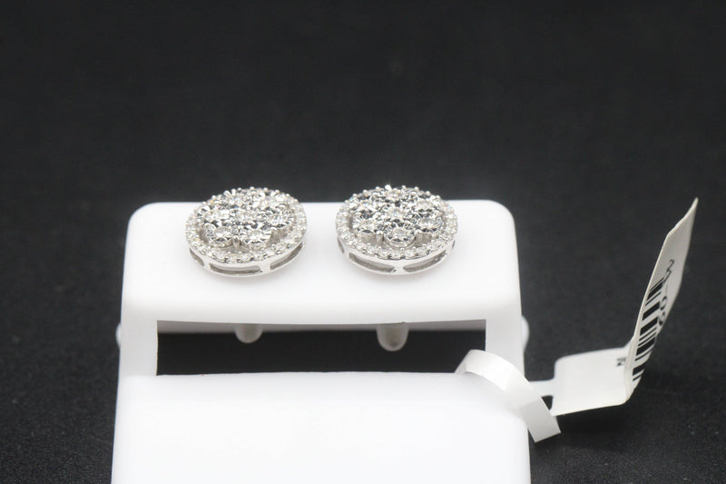 14k VS Diamond Earrings White Gold by GD ™ - Gold Drip Jewelry