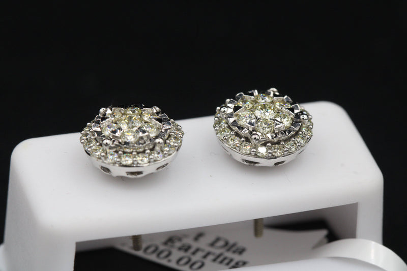 14k VS Diamond Round Earrings by GD ™ - Gold Drip Jewelry