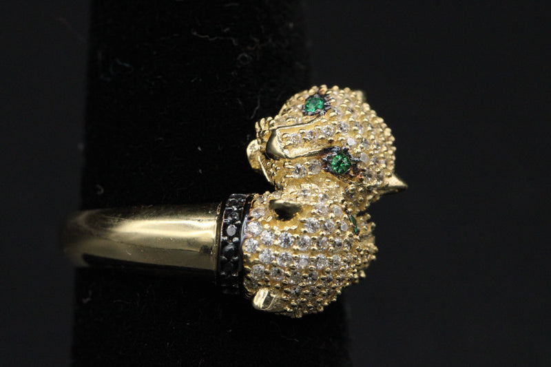 NEW* 14K Panther Ring for Women CZ stones by Gold Drip ™ - Gold Drip Jewelry