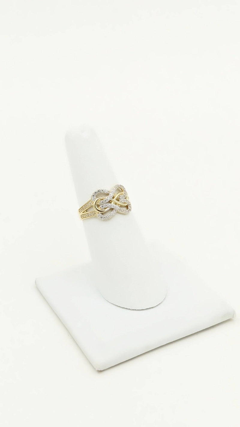 14K Infinity Ring for Women zc stones by GD ™ - Gold Drip Jewelry
