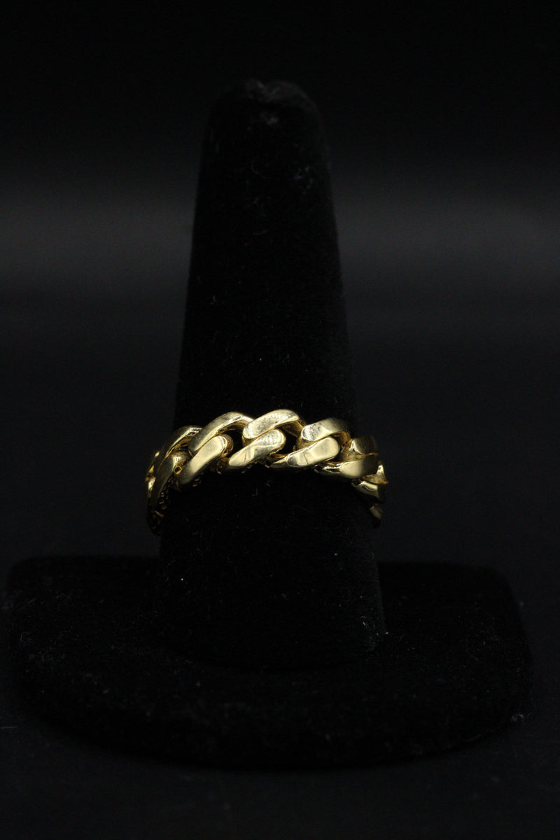 14k Men´s Cuban Ring Yellow Gold by Gold Drip ™ - Gold Drip Jewelry