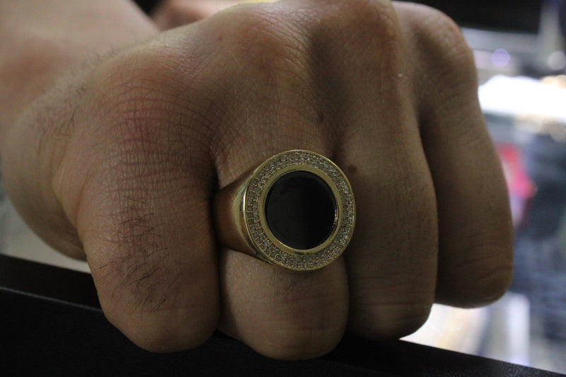 14K Men´s Ring by Gold Drip ™ - Gold Drip Jewelry