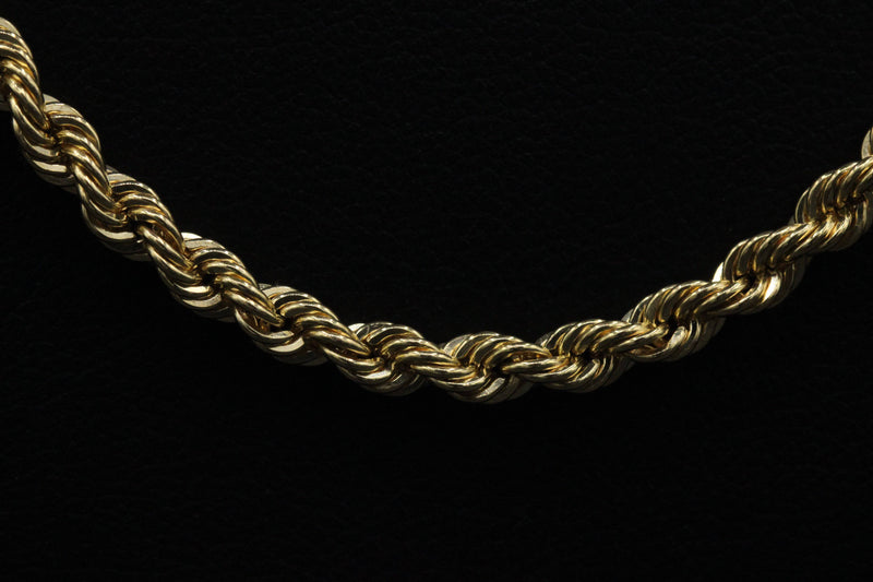 14K Hollow Rope Chain Yellow Gold by Gold Drip ™ - Gold Drip Jewelry