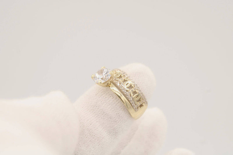 14k CHANEL DUO Wedding Ring by GD ™ - Gold Drip Jewelry