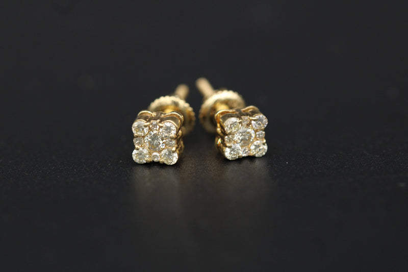 Diamond Earrings 14k by Gold Drip ™ - Gold Drip Jewelry