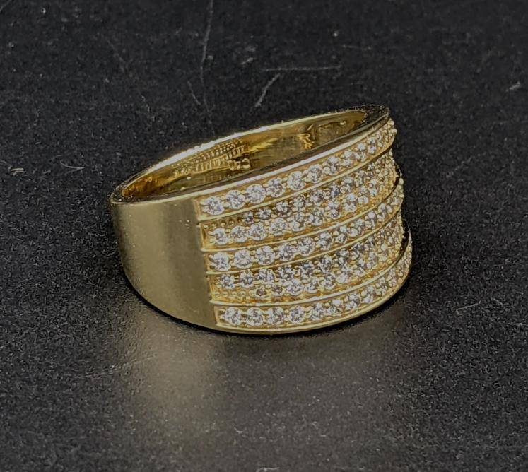 NEW* 14k Wide Full CZ Men's Ring by GD ™ - Gold Drip Jewelry