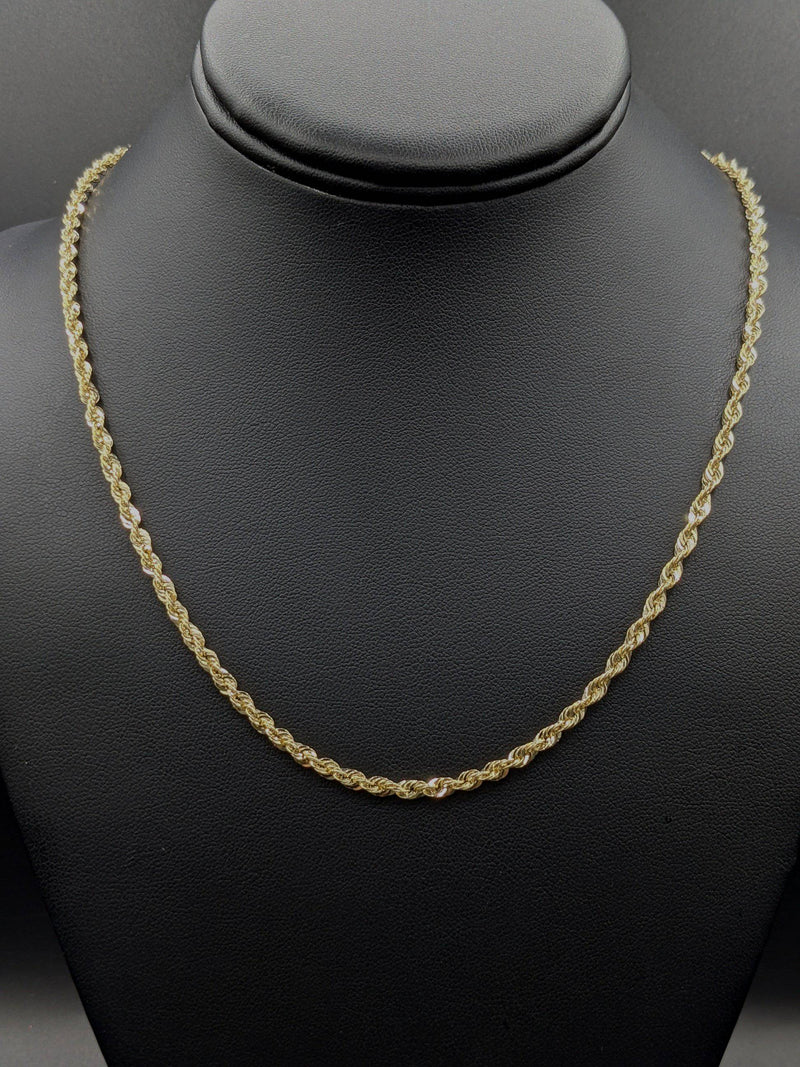 New 14K Hollow Rope Chain by GD ™ - Gold Drip Jewelry