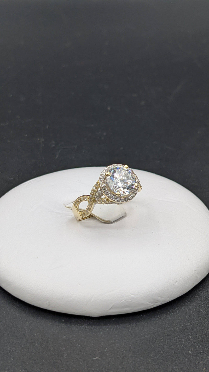 New 14K Infinity Engagement Ring cz stones by GD ™ - Gold Drip Jewelry