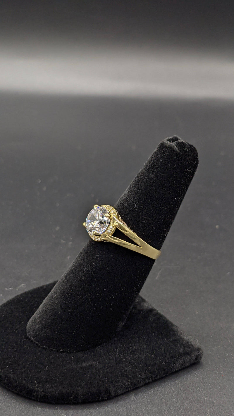New 14K Engagement Ring cz stones by GD ™ - Gold Drip Jewelry