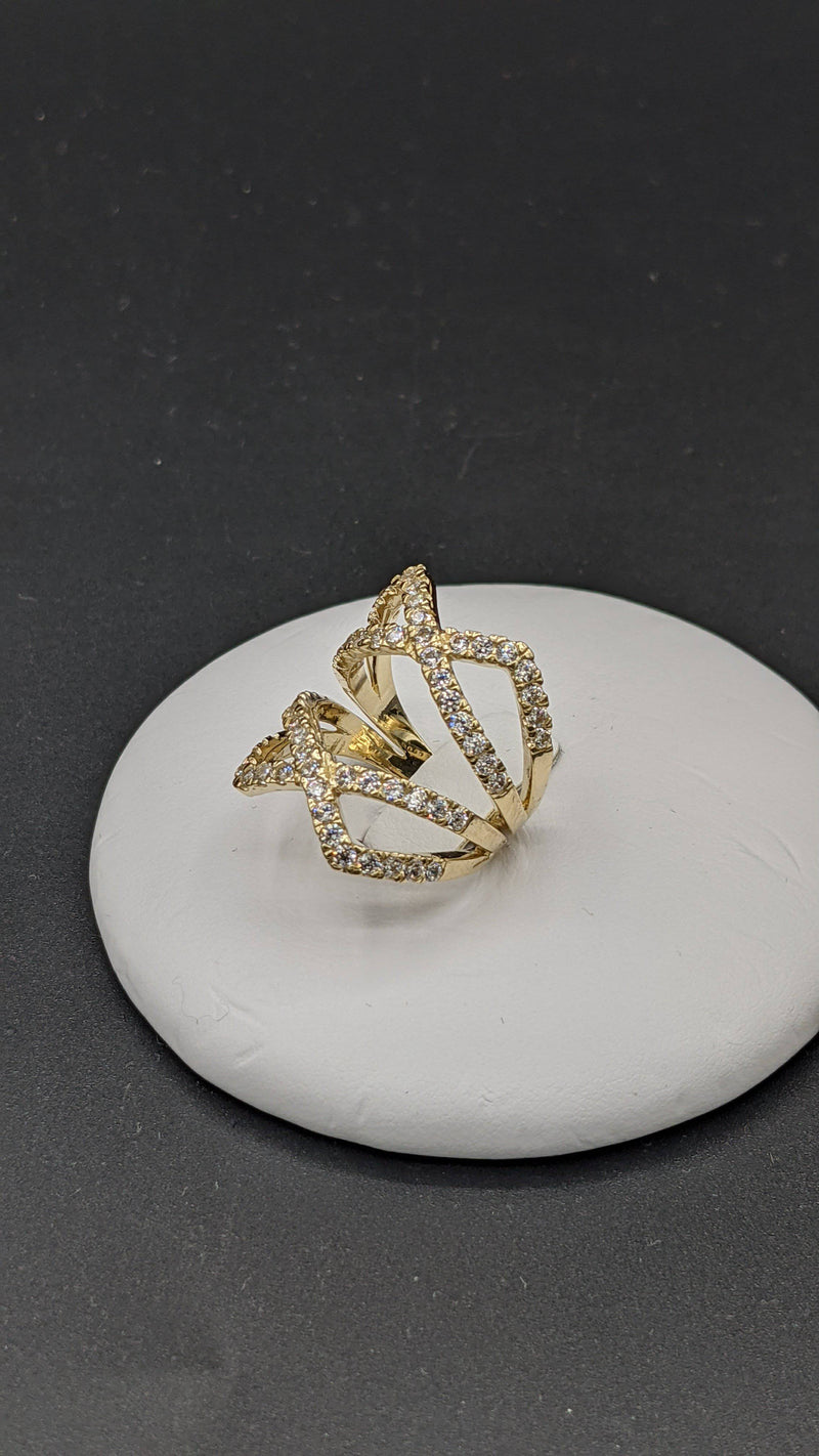 New 14k Ring For Women cz stones by GD ™ - Gold Drip Jewelry