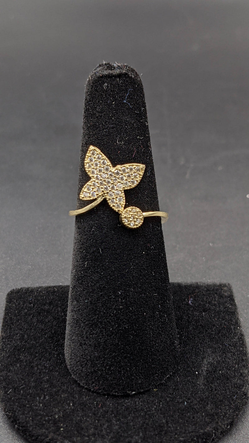 14K Butterfly Ring for Women cz stones by Gold Drip ™ - Gold Drip Jewelry