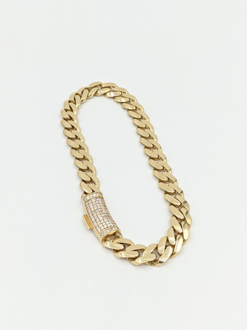 14K Hollow Ankle Bracelet by GD ™ - Gold Drip Jewelry