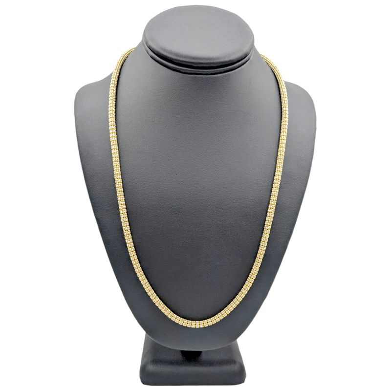 14K Moon iced Chain Yellow Gold by GD ™ - Gold Drip Jewelry