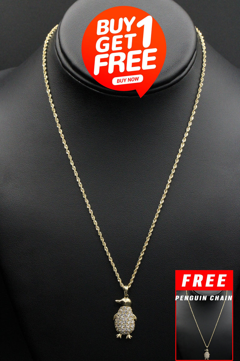 BUY 14K Penguin Chain & Get 1 Free! - Gold Drip Jewelry