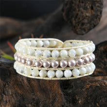 Load image into Gallery viewer, Vintage Natural Stones Botswana Cuff Bracelets