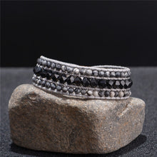 Load image into Gallery viewer, Cuff Natural Stones Bracelet