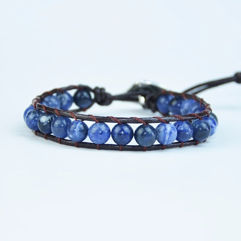 High Quality Natural Sodalite Stone Bracelets