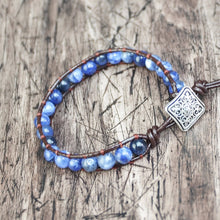 Load image into Gallery viewer, High Quality Natural Sodalite Stone Bracelets