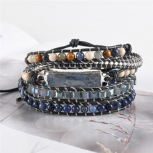 Load image into Gallery viewer, 5 Layers Natural stone Leather Bracelet