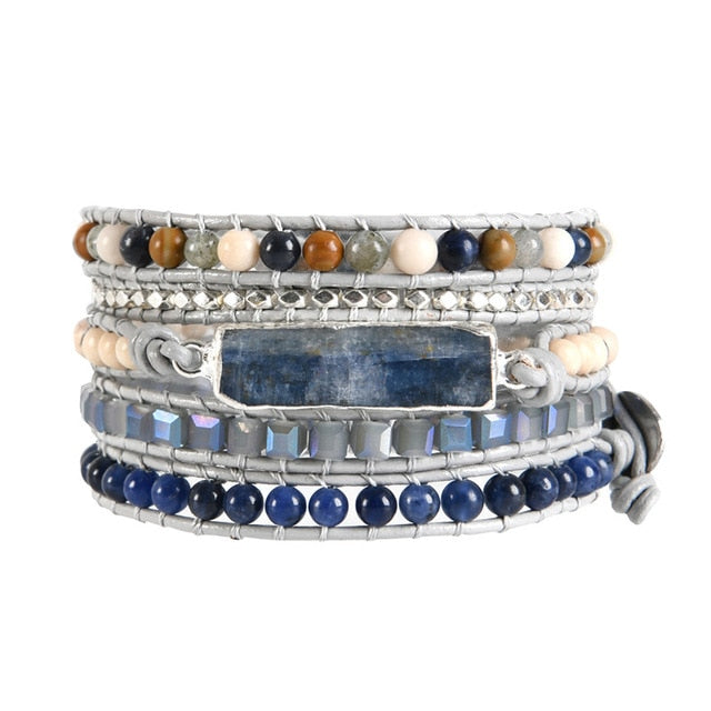 5 Layers Natural stone Leather Bracelet