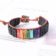 Load image into Gallery viewer, Black Lava Stone Bracelet
