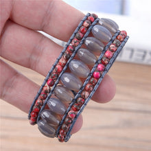 Load image into Gallery viewer, Red and Brown Natural Stones Bracelet