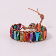 Load image into Gallery viewer, Natural Stone Wrap Chakra Bracelet