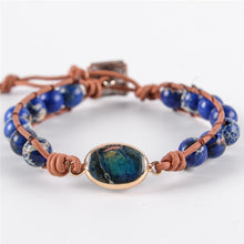 Load image into Gallery viewer, Natural Stones Beaded Wrap Bracelet