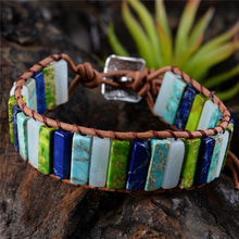 Load image into Gallery viewer, Multicolor Natural Stone Wrap Bracelet