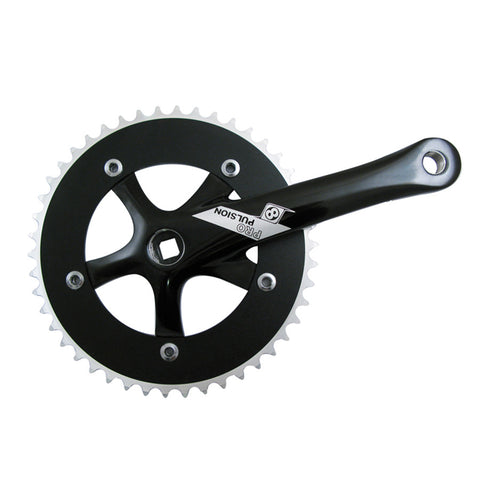 ORIGIN8 Pro Pulsion Single Speed CRANKSET OR8 P/P SS 165x46 SQ BK
