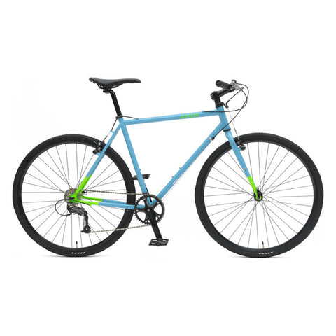 Retrospec Amok-9 Cyclocross Bike - Light Blue & Green