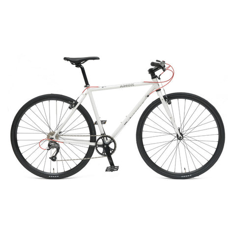 Retrospec Amok-9 Cyclocross Bike - Speckled White