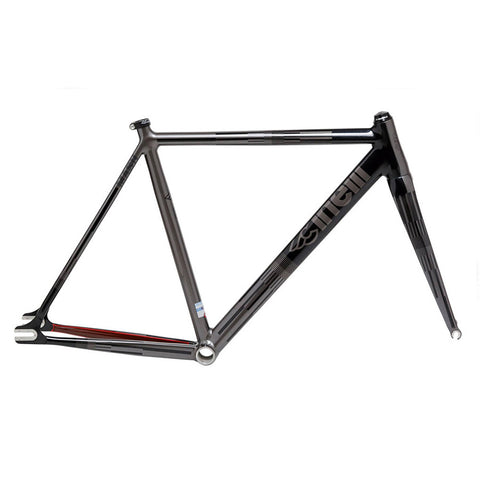 Cinelli MASH 2015 Parallax Track Frameset, Optic Charcoal