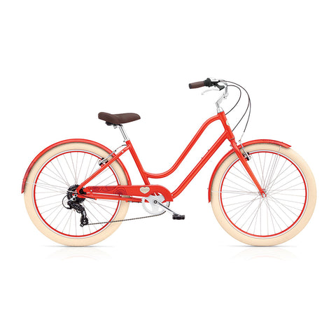 Benno Upright 8D Ladies City Bike- Sunset Red