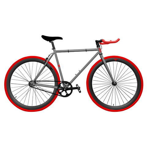 Zycle Fix Hot Charcoal Pursuit Fixie- Custom Build