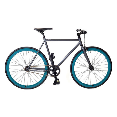 Retrospec Mantra Fixed-Gear / Single-Speed - Graphite/Teal