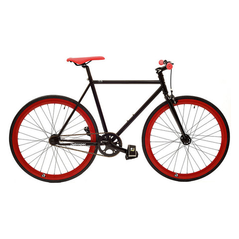 Retrospec Mantra Fixed-Gear / Single-Speed - Black/Red