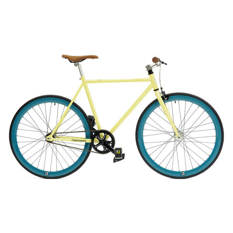 Retrospec Mantra Fixed-Gear / Single-Speed - Cream/Aqua