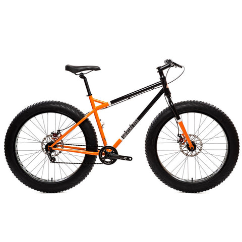 State Bicycle Co. Megalith Fat Bike - Midnight Blue/Orange - 8speed