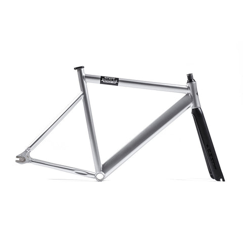 State Bicycle Co. 6061 Black Label Frame Set - Silver