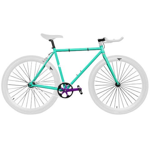 Zycle Fix Celestial and Purple Pursuit Fixie- Custom Build
