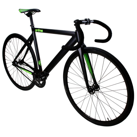 Prime Alloy Series Black & Green Fixed Gear