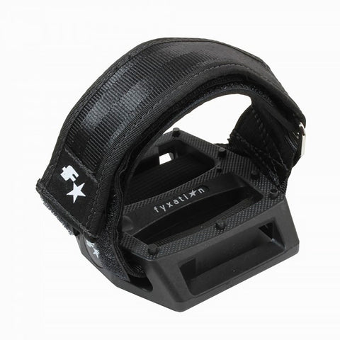 Fyxation Gates Pedal with Strap Kit Black