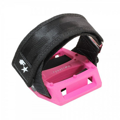 Fyxation Gates Pedal with Strap Kit Pink